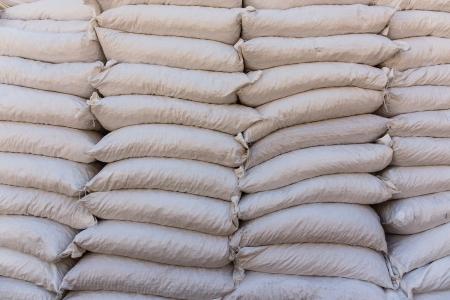 Pile sacks in warehouse Standard-Bild