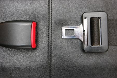 seat belt on a black leather chair Reklamní fotografie