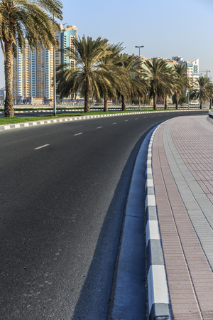 A general view of the waterfront of Sharjah UAE photo