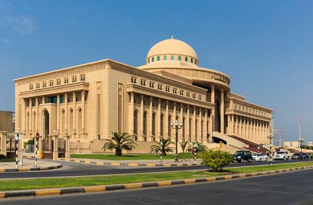 sharjah: SHARJAH, UAE - OCTOBER 29, 2013: Sharjah Court. Justice House In Sharjah