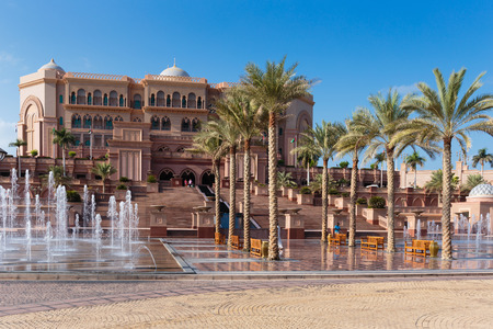 conceived: ABU DHABI, UAE - NOVEMBER 5: Emirates Palace in Abu Dhabi on November 5, 2013 in Dubai. Emirates Palace was originally conceived as a venue for government summits and conferences in the Persian Gulf