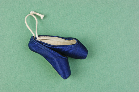 ballet slippers point gift  on the green  photo