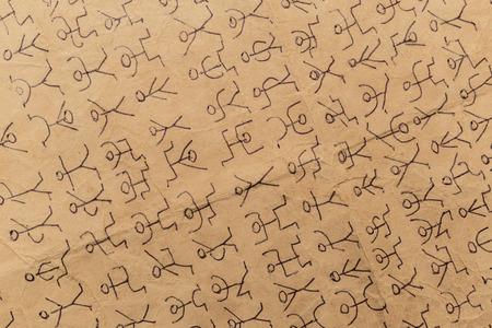 decoding: secret code dancing men Stock Photo