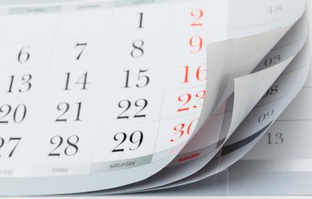 agenda year planner: calendar Stock Photo
