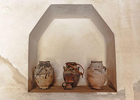 ewer: old ceramic pots Arab