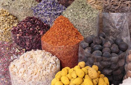 souk: Spices on the Arab market, souk Stock Photo