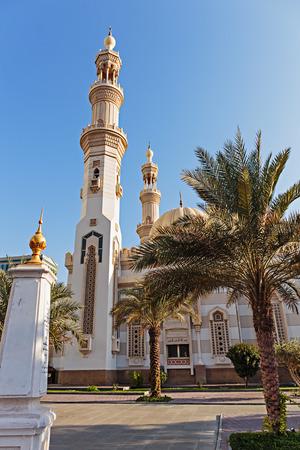 sharjah: Mosque in Sharjah, UAE Stock Photo