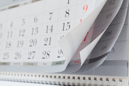 days of week: calendar Stock Photo