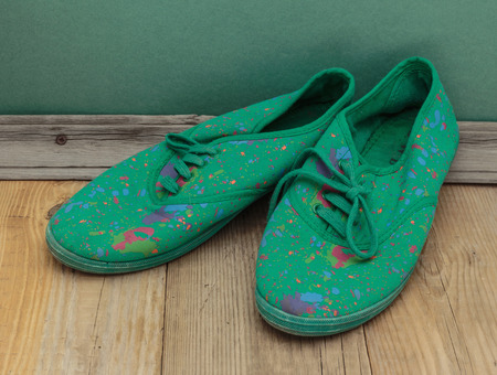 old green shoes photo