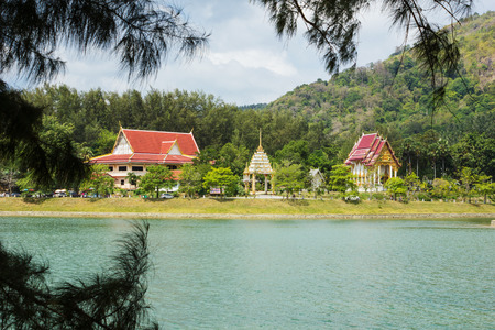 Buddhist temple on the island of Phuket in Thailand photo