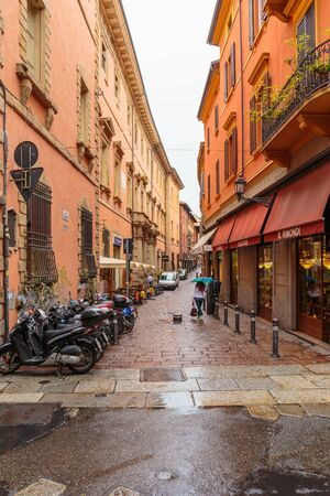 BOLOGNA, ITALY - 25 JUNE, 2014: General view of the downtown streets