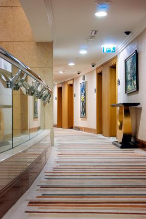 DUBAI, UAE - NOVEMBER 14, 2012: Grand Belle Vue Hotel Apartment Dubai. The hotel has 274 luxurious rooms.
