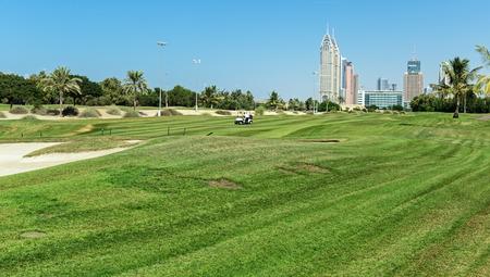 DUBAI, UAE - NOVEMBER 11, 2013: Golf Club in Dubai Redakční