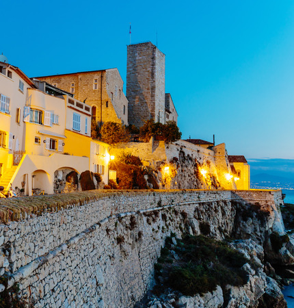 Medieval fortress at dawn Antibes, France photo