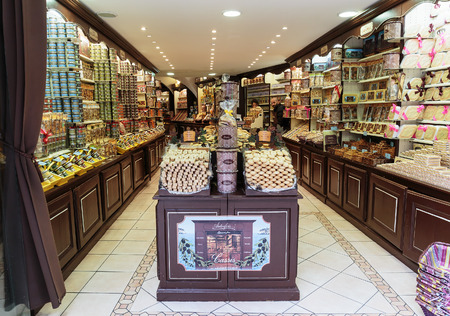 bakery store: CASSIS, FRANCE - NOVEMBER 5, 2014: Grocery store