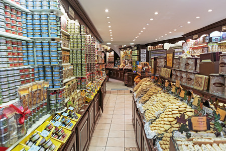 CASSIS, FRANCE - NOVEMBER 5, 2014: Grocery store