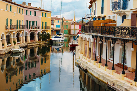 Street canals in Port Grimaud, France Stok Fotoğraf