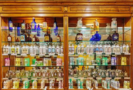GRASSE, FRANCE - OCTOBER 31, 2014: Old perfume shop Redakční