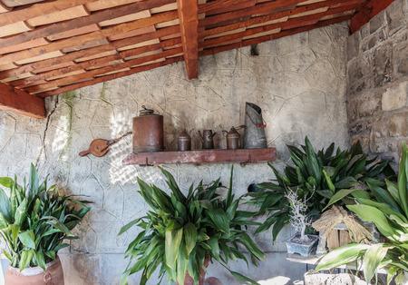Kitchenware on a rural kitchen photo