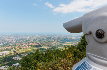 san marino: Spyglass on a mountain in San Marino