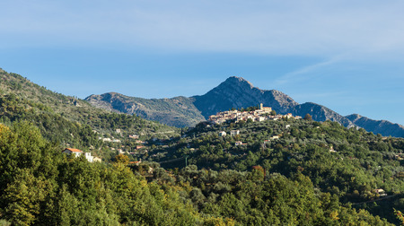 cote d'azur: Old medieval town Coaraze in the mountains , Provence Alpes Cote dAzur, France.