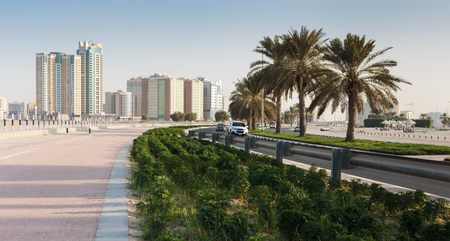 sharjah: SHARJAH, UAE - NOVEMBER 1, 2013: A general view of the waterfront Editorial