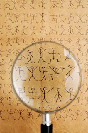 arcanum: secret code dancing men Stock Photo