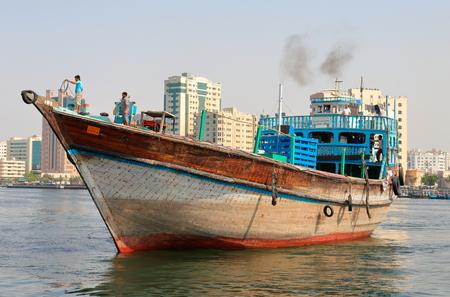 sharjah: SHARJAH, UAE - OCTOBER 29: Sharjah port, on October 29, 2013. Sharjah is located along northern coast of Persian Gulf on Arabian Peninsula