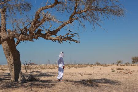 arab man: Arab man in desert