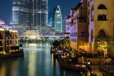 bur dubai: DUBAI, UAE - NOVEMBER 13, 2013: Night view Bur Dubai.