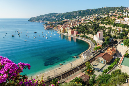cote: Panoramic view of Cote dAzur near the town of Villefranche-sur-Mer
