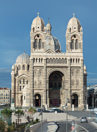local landmark: MARSEILLE, FRANCE - NOVEMBER 5, 2014: Cathedral de la Major - one of the main church and local landmark in Marseille