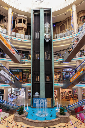 souq: SHARJAH, UAE - OCTOBER 29, 2013: Central Souq Mega Mall opened on December 2001 and becoming one of leading retail and leisure destinations in UAE. It is one of largest malls in UAE at 800,000 sq. ft.