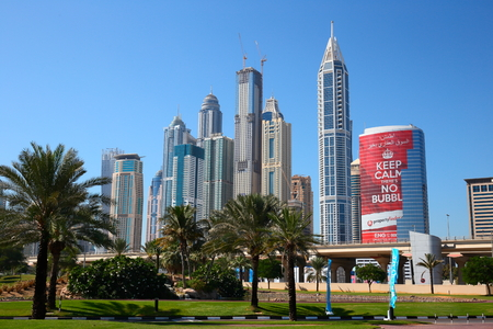 fastest: DUBAI, UAE - NOVEMBER 11, 2013: Dubai city was the fastest developing city in the world between 2002 and 2008.