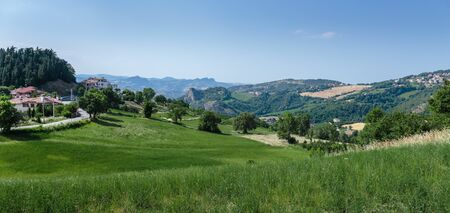italian landscape: Italian landscape in Tuscany Stock Photo