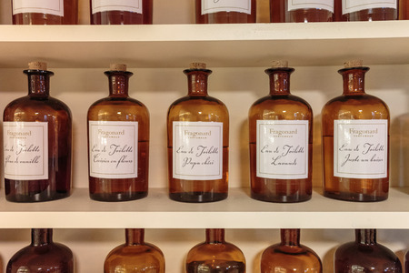 GRASSE, FRANCE - OCTOBER 31, 2014: Hall presentations perfume to the factory Fragonard