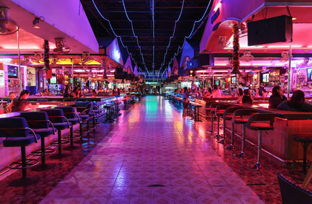 PATTAYA, THAILAND - APRIL 4, 2015: Night club