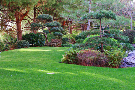 monte: Japanese garden in Monte Carlo, Monaco Stock Photo