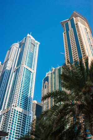 fastest: DUBAI, UAE - Modern buildings in Dubai Marina, Dubai, UAE. Dubai was the fastest developing city in the world between 2002 and 2008.