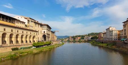 river arno: FLORENCE, ITALY - 23 JUNE, 2014: River Arno in Florence, Tuscany Italy