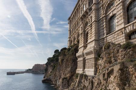 oceanographic: View of Oceanographic Museum of Monaco