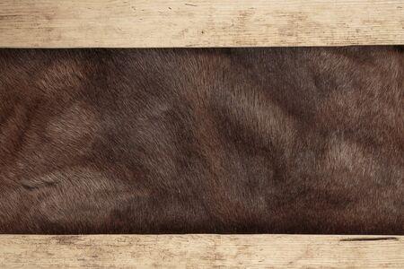 pelage: Old dilapidated boards and reindeer fur
