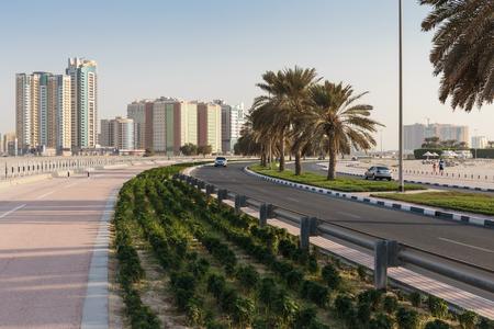 sharjah: SHARJAH, UAE - NOVEMBER 01, 2013: A general view of the waterfront of Sharjah UAE