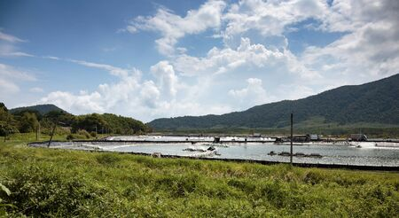 aeration: Farm for breeding lobsters on the island of Koh Chang in Thailand