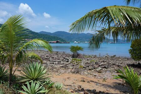 chang: Tropical beach on the island of Koh Chang in Thailand Stock Photo