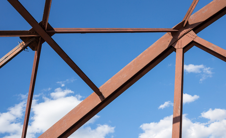 solidity: Old rusty construction elements  truss Stock Photo