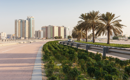 sharjah: A general view of the waterfront of Sharjah UAE Stock Photo
