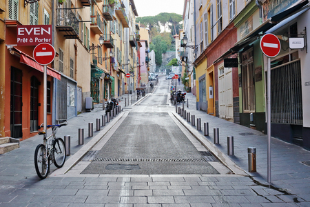 nice france: NICE, FRANCE - OCTOBER 30, 2014: A general view of a street in the old town