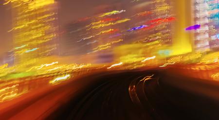 blur subway: Abstract background metro subway tracks blur Editorial