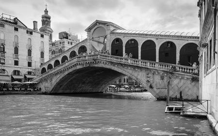 rialto: VENICE, ITALY - 26 JUNE, 2014: Rialto bridge in Venice Editorial